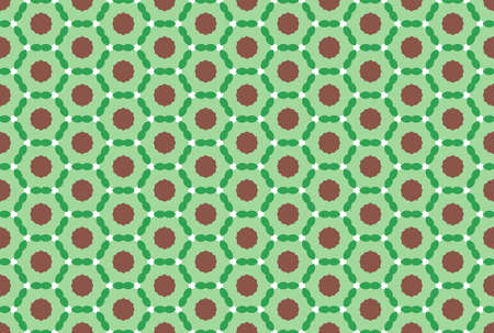 Seamless geometric pattern. Brown and green colors.