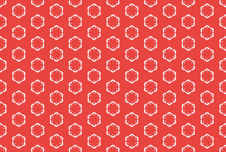 Seamless geometric pattern. White and red colors.