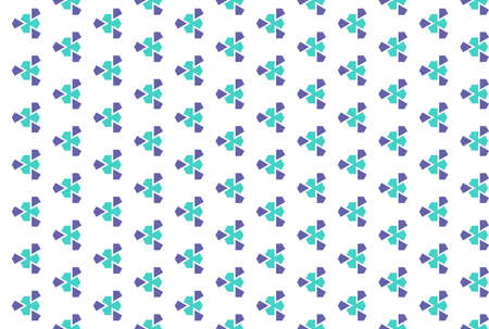 Seamless geometric pattern. Purple and turquoise colors on white background. 写真素材
