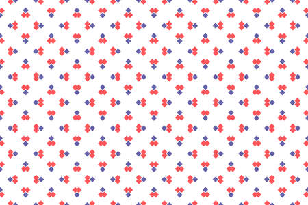 Seamless geometric pattern. Red and purple colors on white background.