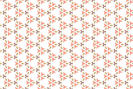 Seamless geometric pattern. Brown and red colors on white background.