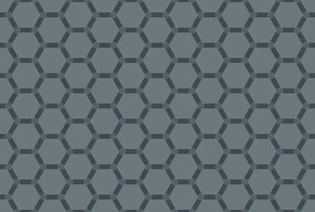 Seamless geometric pattern design illustration. In grey colors. Imagens