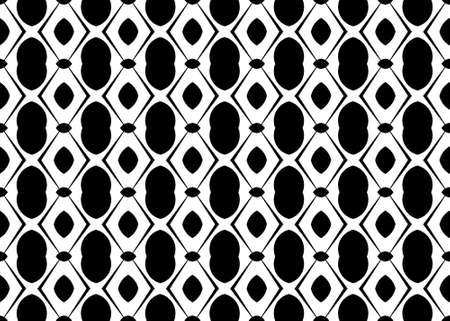 Seamless geometric pattern design illustration. In black and white colors.