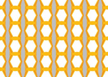 Seamless geometric pattern design illustration. In grey, white and yellow colors.