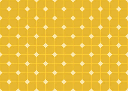 Seamless geometric pattern design illustration. In dark and light yellow colors. Imagens