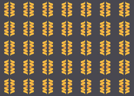 Seamless geometric pattern design illustration. In black and yellow colors.