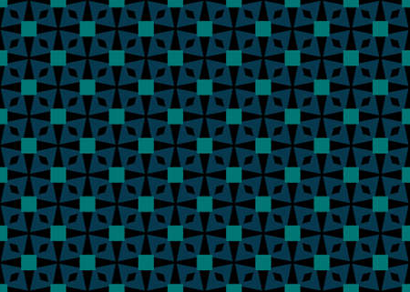 Seamless geometric pattern design illustration. In blue and red colors. Imagens