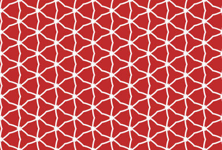 Seamless geometric pattern design illustration. In red and white colors.