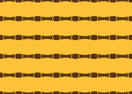 Seamless geometric pattern design illustration. In yellow and brown colors.