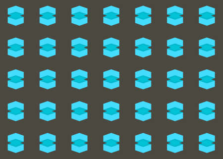 Seamless geometric pattern design illustration. In black and blue colors.