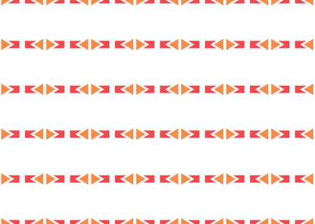 Seamless geometric pattern design illustration. In red and orange colors on white background.