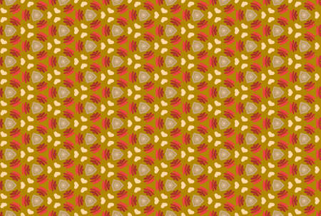 Seamless geometric pattern design illustration. In brown and red colors.