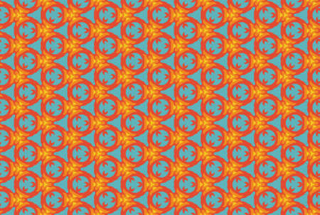 Seamless geometric pattern design illustration. In blue, red, orange and yellow colors.