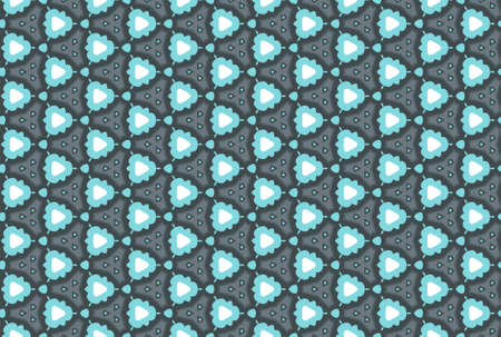 Seamless geometric pattern design illustration. In blue, grey and black colors.