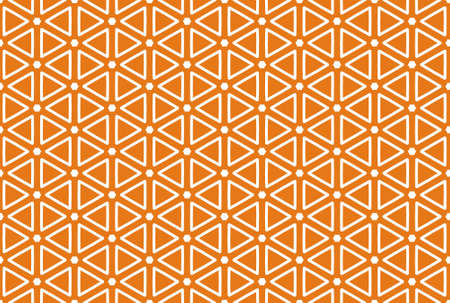 Seamless geometric pattern design illustration. In orange and white colors.