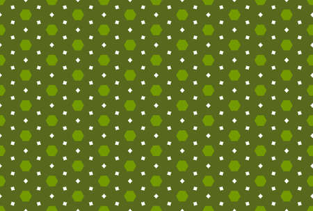 Seamless geometric pattern design illustration. In green and white colors. Imagens
