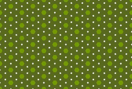 Seamless geometric pattern design illustration. In green and white colors. 版權商用圖片