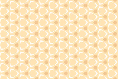 Seamless geometric pattern design illustration. In light brown and white colors.