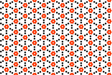 Seamless geometric pattern design illustration. In red and black colors on white background. Imagens