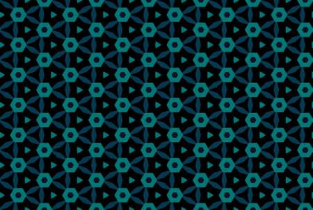 Seamless geometric pattern design illustration. In blue and black colors. 版權商用圖片