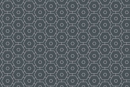 Seamless geometric pattern design illustration. In dark grey and white colors. Imagens