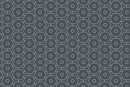 Seamless geometric pattern design illustration. In dark grey and white colors. 版權商用圖片
