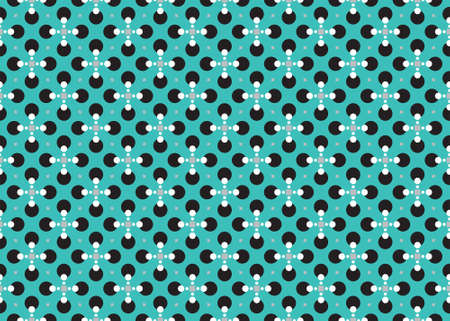 Seamless geometric pattern design illustration. In blue, grey, white and black colors. Imagens