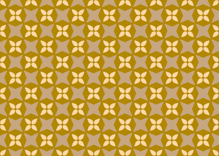 Seamless geometric pattern design illustration. In brown and yellow colors.
