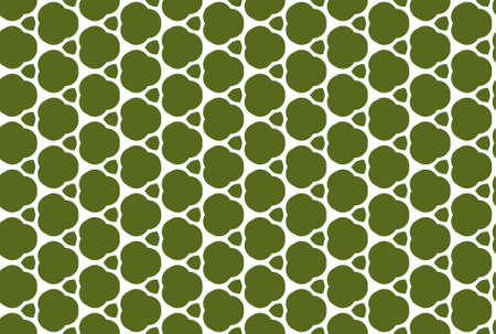 Seamless geometric pattern design illustration. In green and yellow colors. Imagens