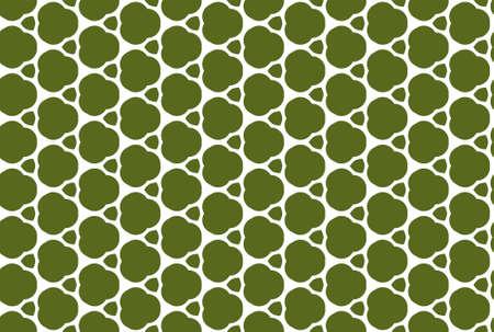Seamless geometric pattern design illustration. In green and yellow colors. 版權商用圖片