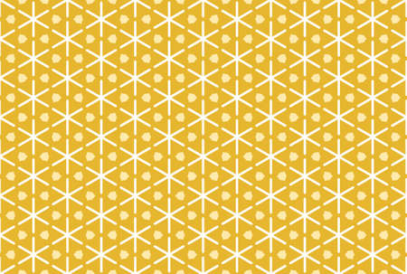 Seamless geometric pattern design illustration. In white and yellow colors. Imagens