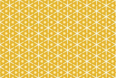 Seamless geometric pattern design illustration. In white and yellow colors. 版權商用圖片
