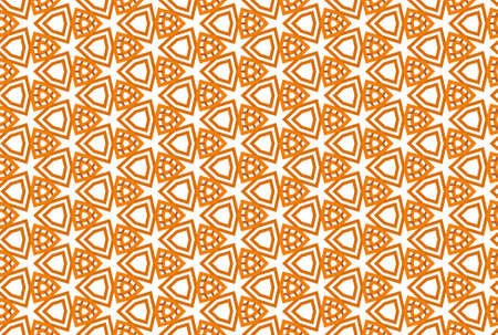Seamless geometric pattern design illustration. In orange, brown and white colors.