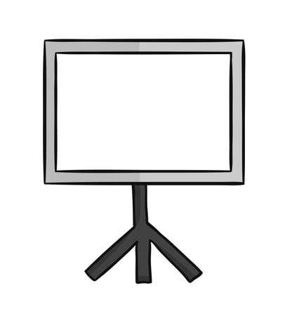 Hand drawn vector illustration of blank presentation chart.