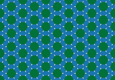 Seamless geometric pattern design illustration. Background texture. In blue, green and white colors.