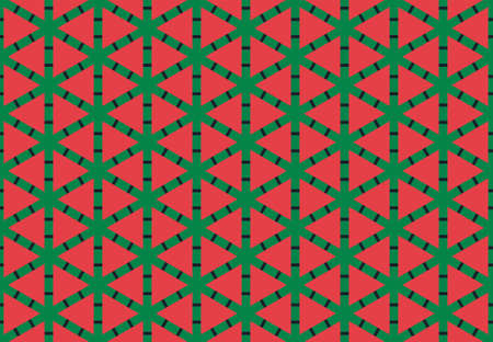Seamless geometric pattern design illustration. Background texture. In red, yellow and black colors.