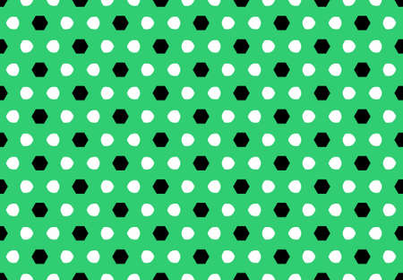 Seamless geometric pattern design illustration. Background texture. In green, white and black colors. Stok Fotoğraf