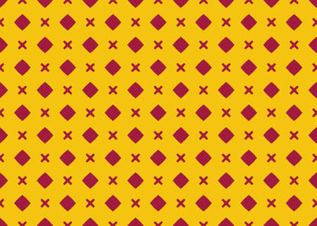 Seamless geometric pattern design illustration. Background texture. In yellow and red colors. Stok Fotoğraf