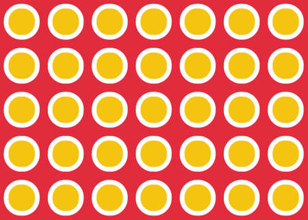 Seamless geometric pattern design illustration. Background texture. In red, yellow and white colors. Stok Fotoğraf