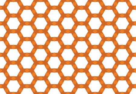 Seamless geometric pattern design illustration. Background texture. In orange and white colors.