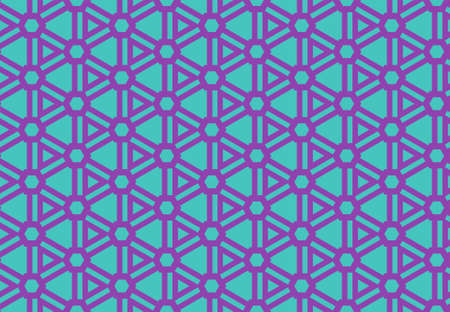 Seamless geometric pattern design illustration. Background texture. In blue and purple colors. Stok Fotoğraf