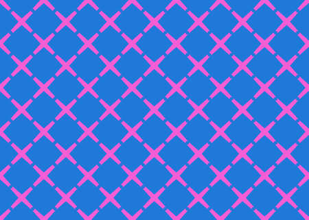 Seamless geometric pattern design illustration. Background texture. In blue and pink colors.