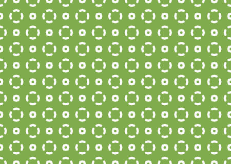 Seamless geometric pattern design illustration. Background texture. In green and white colors.