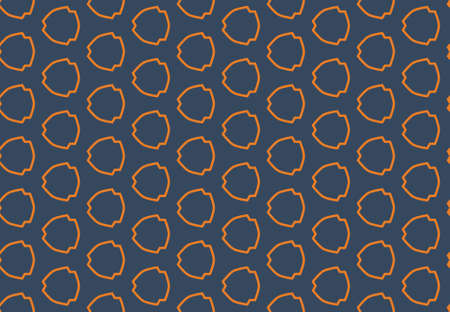 Seamless geometric pattern design illustration. Background texture. In blue and orange colors.