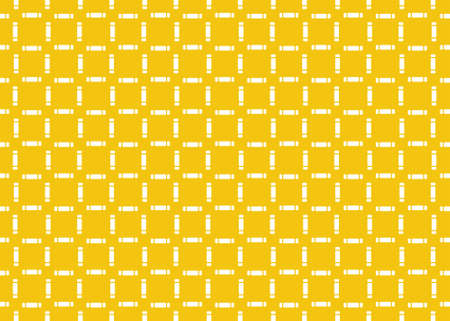 Seamless geometric pattern design illustration. Background texture. In yellow and white.
