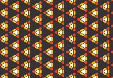 Seamless geometric pattern design illustration. Background texture. In black, red, yellow and white colors.