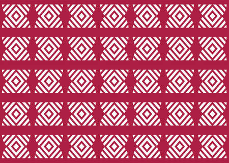 Seamless geometric pattern design illustration. Background texture. In red and white colors. Stok Fotoğraf
