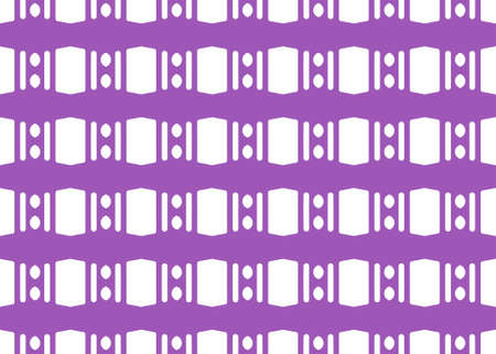 Seamless geometric pattern design illustration. Background texture. In violet and white colors.