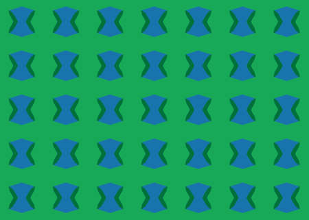 Seamless geometric pattern design illustration. Background texture. In green and blue colors. Stok Fotoğraf