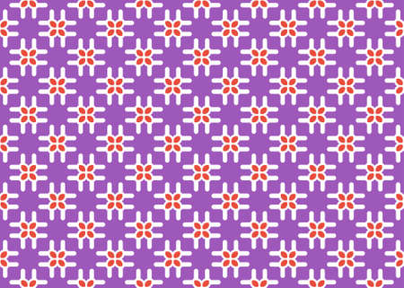 Seamless geometric pattern design illustration. Background texture. In purple, red and white colors.